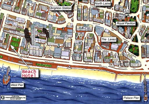 Brighton Seafront Map